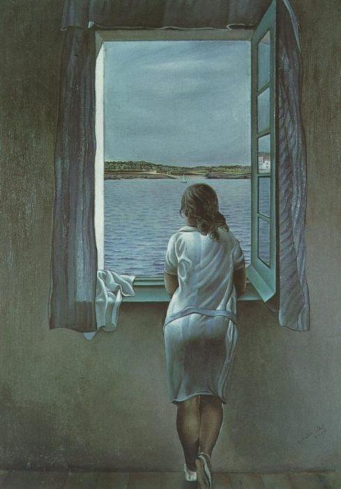 Salvador Dali Figure at the Window